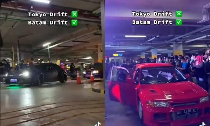 Keren, Aksi Mirip Tokyo Drift Viral di Kota Batam
