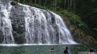 Air Terjun Resun di Lingga, Miliki Kemiringan 45 Derajat